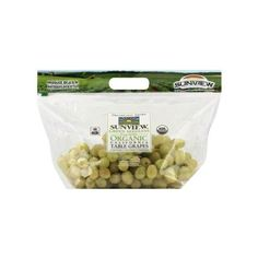 Produce Unbranded Fresh Organic Green Grapes ($2.96) ❤ liked on Polyvore featuring home and kitchen & dining