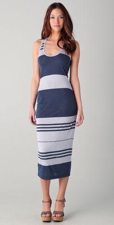 James Perse    Wide Stripe Tank Dress