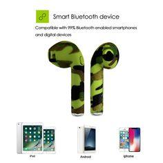 I7S TWS camo fülhallgatók Ture vezeték nélküli Bluetooth dupla fülhallgatók  ikrek fülbevalók sztereó zenei fejhallgató mindenkinek Bluetooth mobil ab806700e8