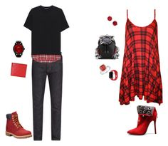 """Date night fashion inspiration"" by moniqueseyecandy on Polyvore featuring Timberland, Junya Watanabe, WearAll, Christian Louboutin, Neil Barrett, Gucci, Seapro, Apple and Kate Spade"