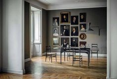 Portrait Wall, Portrait Paintings, Face Paintings, Modern Victorian, The Design Files, Dining Room Lighting, Interior Design Inspiration, Inspiration Mode, Interior And Exterior