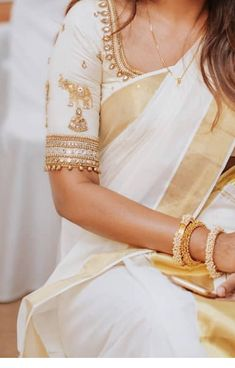 Indian Blouse Designs, Traditional Blouse Designs, Kerala Saree Blouse Designs, Half Saree Designs, Fancy Blouse Designs, Bridal Blouse Designs, Blouse Neck Designs, Blouse Patterns, Sarees