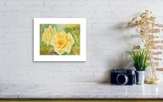 Yellow Roses Watercolor Painting Print, Floral Watercolor Print, Botanical Print, Spring Painting, 5x7, 8x10, Yellow, Green by KathrynMDuncan on Etsy Watercolor Print, Watercolor Paintings, Spring Painting, Mini Canvas, Yellow Roses, Botanical Prints, Painting Prints, Giclee Print, Green
