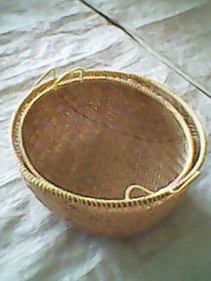 this basket's handmade with bamboo material