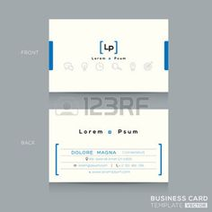 Minimal sauberes Design Visitenkarte-Schablone photo