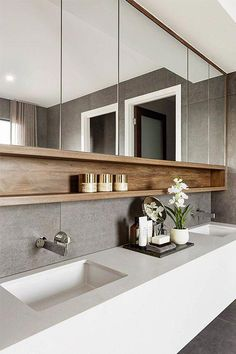 Bathroom Storage Ideas - Simply take a look at these basic ideas we threw together. Below are 22 trendy bathroom storage ideas to keep your bathroom arranged as well as looking . Bathroom Inspiration, Bathroom Vanity, Luxury Kitchens, Small Bathroom, Small Bathroom Colors, Bathroom Interior Design, Amazing Bathrooms, Trendy Bathroom, Contemporary Bathroom Designs