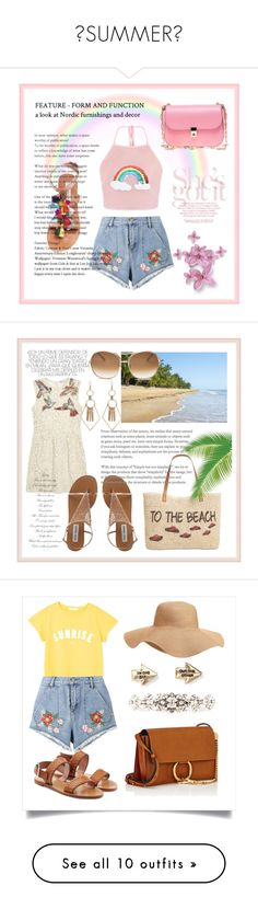 SUMMER by chlomolyn on Polyvore featuring polyvore, fashion, style, House of Holland, Steve Madden, Valentino, clothing, RED Valentino, Style & Co., Chloé, Old Navy, MANGO, Aéropostale, Dolce&Gabbana, Rebecca Minkoff, Linda Farrow, Various Projects, Billabong, Thakoon, rag & bone, Deux Lux, Aurélie Bidermann, Fendi, Juliska, Tahari, Humble Chic, Victoria Beckham, Topshop, Sans Souci, Levi's, Bling Jewelry, Fallon, Mansur Gavriel, Jason Wu, Jennifer Lopez, Michael Kors, Emily & Ashley…