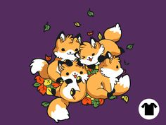 Playful Foxes Remix Eggplant for $11