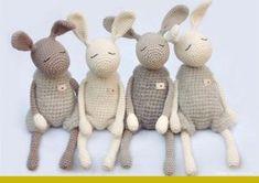 """Image of Crochet Pattern for """"Little Jack Rabbit"""" / Häkelanleitung für """"Kleine Heldhasen"""""""