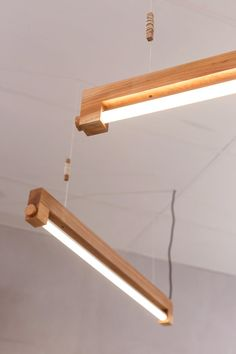 """everything-creative: """" Ninebyfour lampe by Waamakers The Ninebyfour lamp is another very minimalistic lamp design by the Amsterdam Waarmakers studio. Shop Lighting, Lighting Design, Light Fittings, Light Fixtures, Ceiling Light Design, Ceiling Lights, Driftwood Lamp, Wooden Lamp, Lamp Light"""