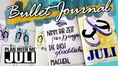 PLAN WITH ME | JULI 2018 | Bullet Journal deutsch Bullet Journal Flip Through, Planer, Bujo, Flip Flops, How To Plan, Youtube, Bullet Journal Ideas, Deutsch, Beach Sandals