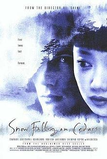Snow Falling on Cedars is a film directed by Scott Hicks. It is based on David Guterson's novel of the same title. It was released in 1999 and was nominated for an Academy Award for Best Cinematography.