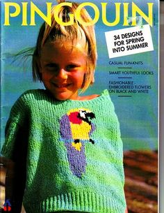 Your place to buy and sell all things handmade Summer Knitting, Knitting For Kids, Sweater Knitting Patterns, Crochet Patterns, Knitting Magazine, Black Flowers, Catalogue, Picture Show, Crochet Hats