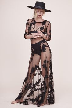 #Lace #Black #MaxiDress #Model #Sheer #Editorial #Summer #Style #Fashion #BiographyInspiration