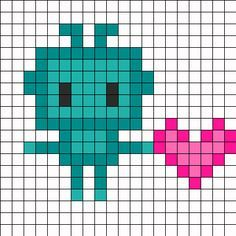 LoveBot Perler Bead Pattern | Bead Sprites | Misc Fuse Bead Patterns