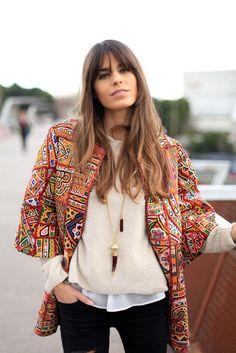 15 inspiring   edgy bohemian outfits   15 looks inspirants avec une veste  ethnique  trend 54612b4c3f7f
