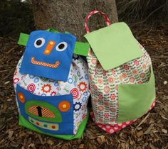 Back to School ~ Free Let's Go! Backpack Pattern & Tutorial « Sew,Mama,Sew! Blog