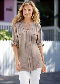 b8b8af46 Pleated blouse | Blouses & shirts | Womens Clothing | bonprix Camisas  Largas, Blusas De