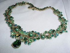 Vintage Costume Jewelry: ELSA SCHIAPARELLI NECKLACE