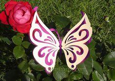 Вырезаем ажурные двухслойные бабочки из бумаги по трафаретам » Женский Мир