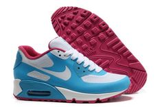 Air Max 90 Hyperfuse Prm Womens Shoes For Sale Blue White Red Cool