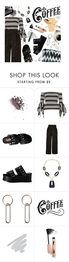 """""""Spring-Summer 17 (Plus Size Chic)"""" by foolsuk ❤ liked on Polyvore featuring Topshop, Shellys, Alexis Bittar, MANGO and Too Faced Cosmetics"""
