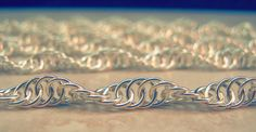 Chainmaille Sterling Silver Spiral Chain by CreativeReflections
