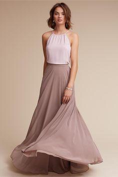 royal color blocking | Hunter Top & Hampton Skirt from BHLDN