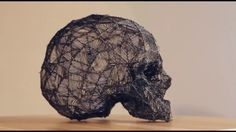 360 view of a 3d skull sketched with LIX pen