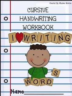 This is a cursive handwriting cover that can be used to make a cursive handwriting workbook. Included are two covers for a boy or girl. To make a workbook you can bind the cover with workbook pages. Enjoy this freebie! Improve Your Handwriting, Improve Handwriting, Cursive Handwriting, Cursive Letters, Handwriting Practice, Creative Teaching, Teaching Kids, Kids Learning, Teaching Cursive Writing