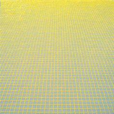 Sara Eichner-'yellow grid on grey'-Sears-Peyton Gallery
