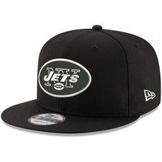 Men s New York Jets New Era Black B-Dub 9FIFTY Adjustable Hat bd997c6a3