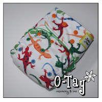 Lizard cloth diaper!  Too cute!  Ai2 (all-in-two) with bamboo hemp soaker.