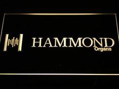 Hammond Organs Keyboards Speaker LED Sign