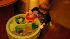 st. patricks day sensory table