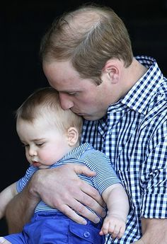 Prince William with his son, George