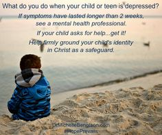 There's a Big Myth that says children don't experience depression. Yet, adults aren't the only ones who can become depressed. Children as young as 3 years old can have depression. Signs and symptoms of depression have even been observed in babies. There is help and hope for depression. There is a Hope that Prevails. #depression