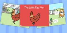 The Little Red Hen Story Powerpoint - stories, story books, story Primary Resources, Teaching Resources, Little Red Hen Story, Make Your Own Character, English Short Stories, Traditional Tales, Festival Shirts, Interactive Stories, English Reading