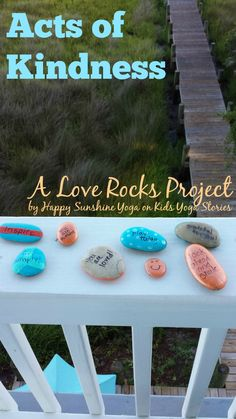 Acts of Kindness for Kids: A Love Rocks project Acts of Kindness: Inspire people with this Love Rocks project, by Happy Sunshine Yoga on Kids Yoga Stories Kindness Projects, Kindness Activities, Activities For Kids, Crafts For Kids, Teaching Kindness, Mindfulness Activities, Kindness Matters, Kindness Rocks, Acts Of Kindness