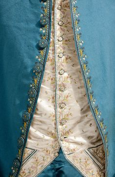 "duchessofpowderedwigs: ""Detail of 18th century male suit. Source. """