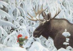 Gnome and moose - Staffan Ullström