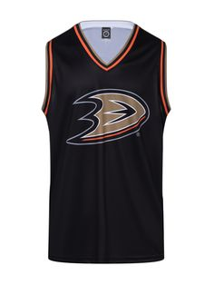 """Get ready to rock your Anaheim Ducks Hockey Tank all year round! This NHL officially licensed, light-weight polyester tank top is perfect to wear any time the sun is out. Perfect for those sunny California days. #LETSGODUCKS #paintitorange #mightyducks #anaheimducks  Officially licensed product of the NHL by Calhoun 100% Polyester 100% Machine Wash Safe Official NHL team colors and logos Fits like a """"hockey basketball jersey"""" Ducks Hockey, Sunny California, Nhl Jerseys, Anaheim Ducks, Basketball Jersey, How To Wear, Tops, Colors, Bench"""