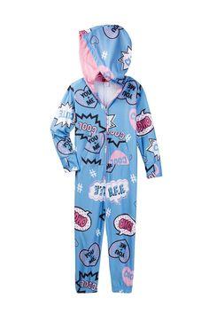 Hooded One-Piece Pajamas (Little Girls & Big Girls)
