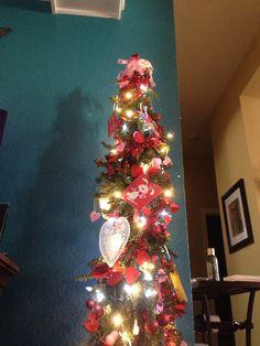 Valentines decorated tree