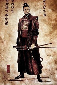 Samurai posing