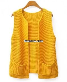 """Chunky Knit Open Front Vest - Clothing """"Discover thousands of images about Chunky Knit Open Front Vest - Clothing"""", """"Ritcha - Ri(t)ch Styles"""", """"This Baby Knitting Patterns, Knitting Designs, Hand Knitting, Knitting Sweaters, Knitting Ideas, Knitting Needles, Crochet Patterns, Knit Vest Pattern, Crochet Jacket"""