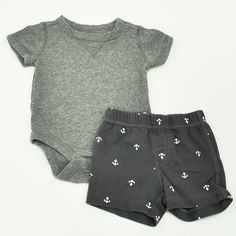 Baby Boy 3-6 mos. Onesie and Shorts- Gently Used- Baby Gap with Carter's- Click to see the whole lot!