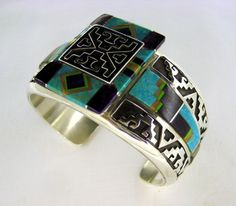 Just beautiful inlay work by designer/ artist Abraham Begay... not to mention the silver work as well.