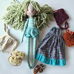Cute Handmade cloth dolls and baby first от DollsByMAMAICA на Etsy - dolls body Doll Crafts, Diy Doll, Doll Clothes Patterns, Doll Patterns, Handmade Baby, Handmade Toys, Granny Gifts, Doll Wardrobe, Creation Deco