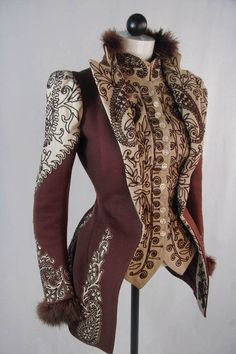 91c21909d1c Oh oh oh in a gorgeous cherry red yes please! - Victorian riding jacket but  would make a good inspiration for a Steampunk jacket. Astrid Love